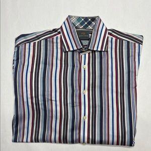 THOMAS DEAN size L CASUAL DRESS SHIRT